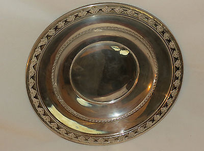 "Vintage Reed and Barton Sterling Silver 9-1/4"" Bowl-Dish-Plate-Underplate 195 g"