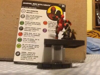HEROCLIX Deadpool and X-Force #060 DEADPOOL, MERC WITH A MOUTH SR