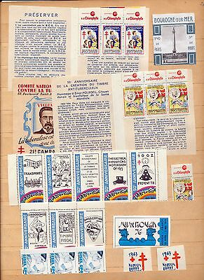 France TB Philatec Exposition Poster Labels(Approx 40)OV1744