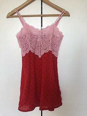 Undercover Wear, Size 6 / 8, Red And Pink Slip