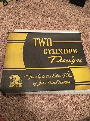 Two Cylinder Design John Deere Sales Book With Transparent Cutaways 1939 Tractor