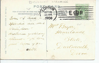 1906 Bickerdike Machine cancel on Whitby p/card