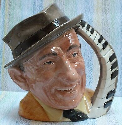 """Royal Doulton Character Jug Jimmy Durante 7"""" D6708 Celebrity Collection"""