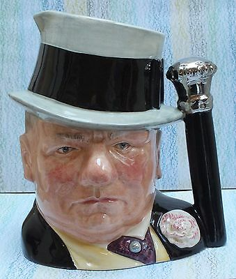 """Royal Doulton Character Jug W.C.Fields 7"""" D6674 Celebrity Collection"""