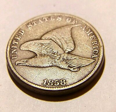 1858 Flying Eagle United States Copper Nickel Cent Small Letter Variety!
