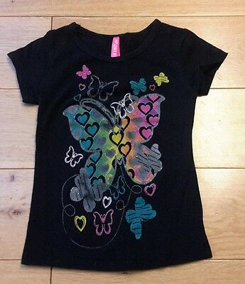girls black butterfly t-shirt 18-24 months (2T)