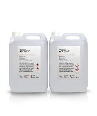 2 x 5L Container Pure Acetone - Acrylic Nail Remover Nail Polish Remover 99.8%