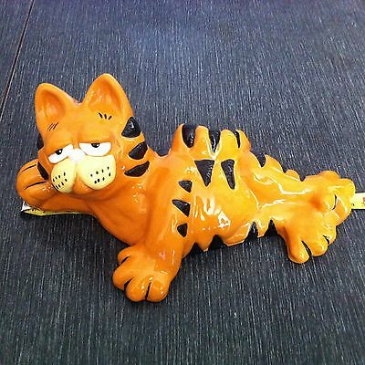 "Vintage Garfield Ceramic Figurine 11"" Large Rare Cat Statue"