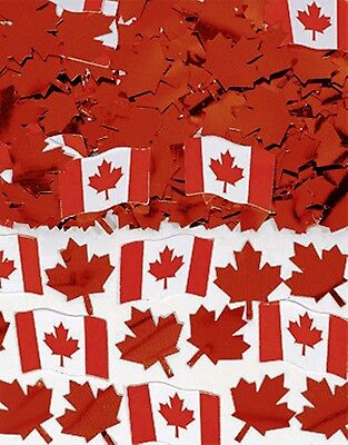 CANADIAN FLAG Printed Confetti Canada Day Party Supplies Table Decorations