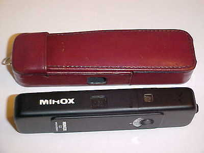 Vintage MINOX LX MINI Spy Camera - Made in Germany w/ Leather Case Exc Cond L@@K