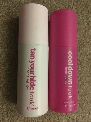 FCUK Cool Down Body Spray and Tan Your Hide Bronzing Gel 2x 150ml