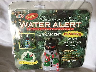 Christmas Tree Water Alert - Snowman ornament