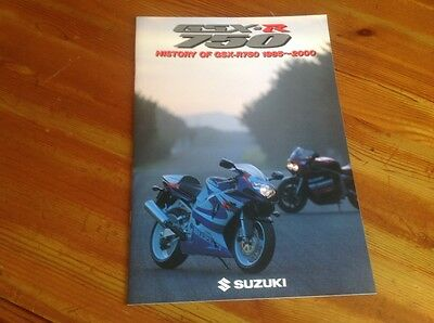 Suzuki booklet on history of GSXR 750 1985-2000