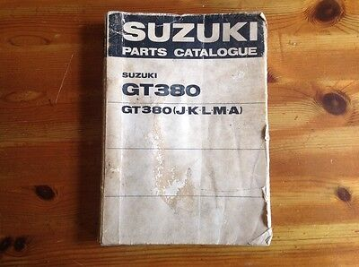 Suzuki GT380 part book original