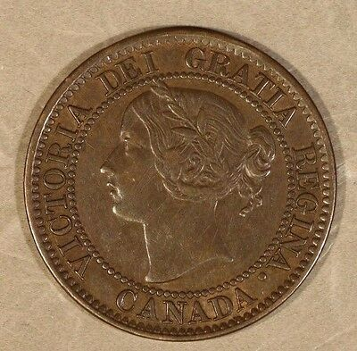 1859 Canada Victoria Large Cent RPD 9 Variety Nice   ** FREE U.S. SHIPPING **