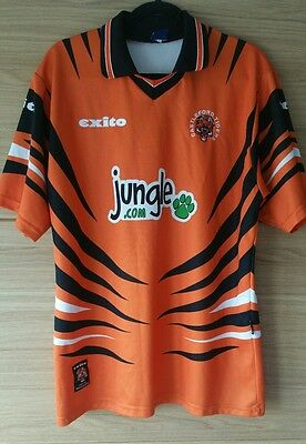 Vintage 2001 Castleford Tigers Large Mens Rugby League Shirt *free postage*