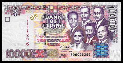 World Paper Money - Ghana 10000 Cedis 2006 P35c @ Crisp UNC