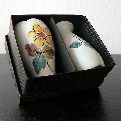 Radford Boxed Pair Posy Vases Fz Pattern Tulip Shape Vintage Hj Wood Cute Fun
