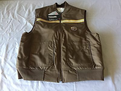 United Parcel Service UPS Sz Large Reflective Vest 3M Thinsulate Quilted