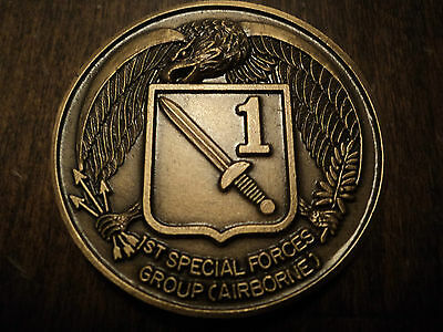 US ARMY SPECIAL FORCES GROUP VIETNAM WAR ERA CHALLENGE COIN (Lot 10)