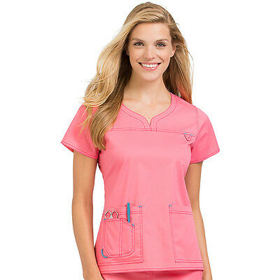 MC2 by Med Couture Women's Large Scrub Set With 8489 Top And 8741 Pant FLMG