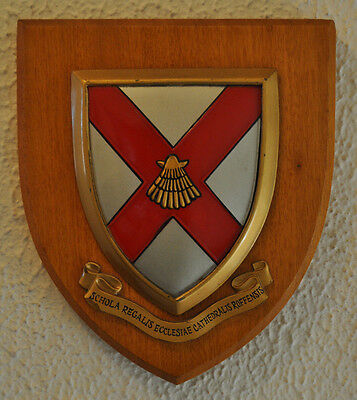 King's School Rochester wall plaque shield coat of arms
