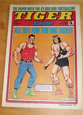 Tiger Comic 31/3/1979 With Aberdeen Team Centrefold Poster & Championship Game