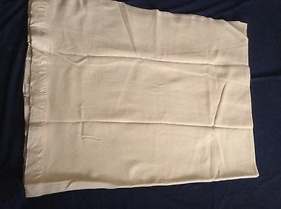 """Vtg EATON's Pure Virgin Wool BLANKET Camel Colour GENTLY USED 92x74"""" med weight"""