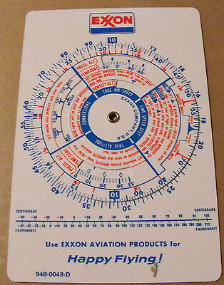 1960's Exxon Aviation Calculator 948-0049D