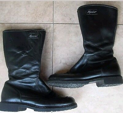 Spider leather motorcycle boots - UK size 6 - JPN 24.5