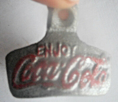 Metal Bottle Opener Coca Cola Soda Pop Vintage Taiwan Wall Mount 1980's