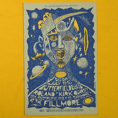 Fillmore Postcard.butterfield Blues Band.roland Kirk.mt Rushmore.june 1967