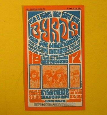 Fillmore Postcard.the Byrds.wildflowers.new Stage.sept 1966