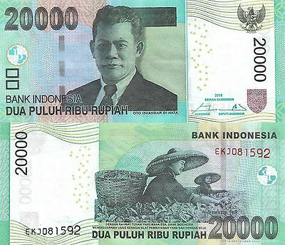 Indonesia 20000 Rupiah (2016/2004) - Women in Rice Paddy/p151-New UNC