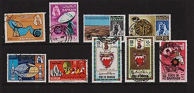 Bahrain - 9 used stamps, cat. $ 57.50