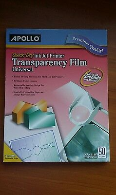 Apollo transparency film 50 sheets, quick Dry (pink pack)