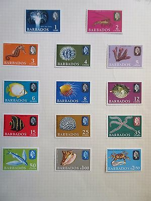 Barbados 1966-69 Definitives (Marine Life) Up to $2.50.Mint.