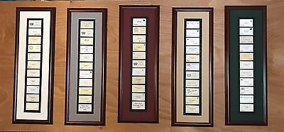 Vintage-Famous Collection Framed Business Cards Gift..Unique and Personalized