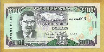 Jamaica 100 Dollars 2010 P-84e Unc Currency Banknote ***USA SELLER**