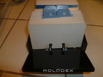 Vintage ROLODEX Business Index Card File All New Blank Cards