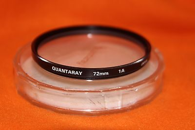 Quantaray 72 mm Skylight 1A Filter w case Made in Japan