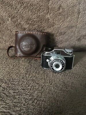 Vintage Speedex Mini Spy Camera and Leather Case
