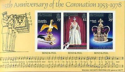 TURKS & CAICOS: 25th Anniv Queen Elizabeth Coronation Booklet; Sc 354, SG SB2