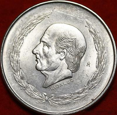 Uncirculated 1952 Mexico 5 Pesos Silver Foreign Coin Free S/H!