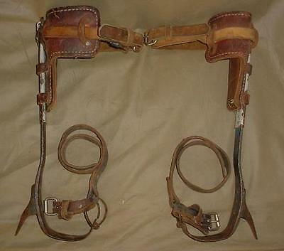 Vintage M. Klein & Sons USA Climbers Tree Pole Climbing Spikes Gaffs Lineman