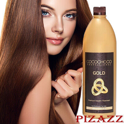 COCOCHOCO Gold keratin hair straightening treatment 33.8 oz /1000 ml 24k liquid