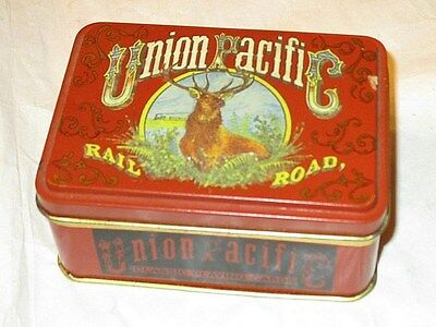 Union Pacific Railroad 2 Sealed Decks Of Playing Cards In Collectible Tin Box