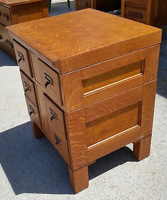 Beautiful Tiger Oak File Cabinet - From Calif. Railroad Comm. - Side Table Or ?