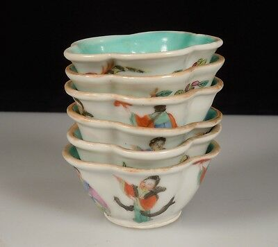 6 Chinese Porcelain Wine Cups