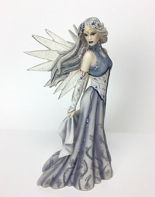 "DragonSite ""WINTER FANTASIA"" Fairy by JESSICA GALBRETH JG50106 Resin Figurine 6"""